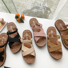 Womens Shoes, Sandals, Girls Students Retro-gentle Late Roman Fashion Flat-soled Shoes and Slippers  High-Heeled