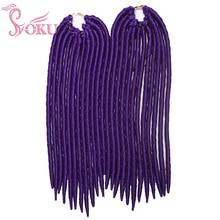 SOKU 24Roots Faux Locs Straight Braids Crochet Braid