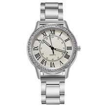 Luksusowe zegarki damskie zegarki rzymskie Dial zegarek damski Reloj Mujer Rhinestone eleganckie kobiece zegarki kwarcowe ze stali nierdzewnej tanie tanio YOLAKO QUARTZ NONE Bransoletka zapięcie CN (pochodzenie) Ze stopu Nie wodoodporne Moda casual 18mm ROUND Brak Szkło