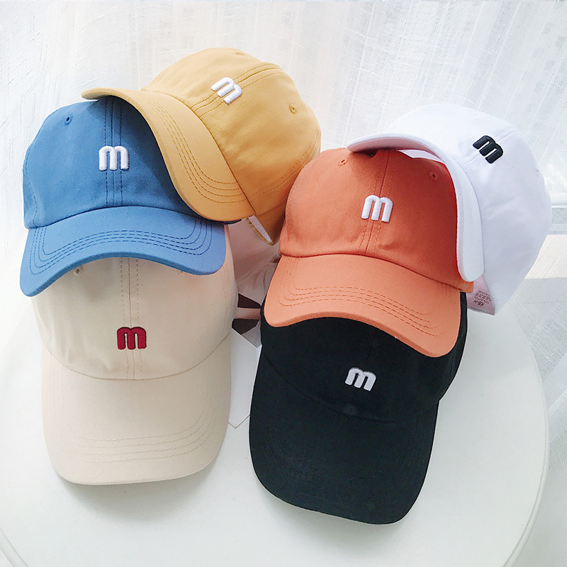 Hats Baseball Cap Snapback New Fashion Sun Hats Unisex Women Men's Baseball Cap M Embroidery Cap Casual Gorros Snapback Hat 2020
