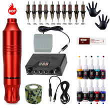 Tattoo-Machine-Kits Ink Rotary-Pen Permanent Original Cartridges-Needles with And