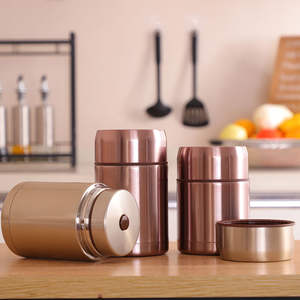 Portable Stainless Steel 1L Thermal Pot Immering Cans Home Office Simmering Cans Stainless Steel Vacuum Simmering Cans Gifts