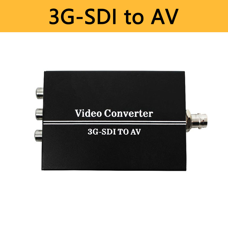 3G HD SDI в AV конвертер BNC в RCA адаптер аудио скалер до 1080P Поддержка LPCM 2,0 для ТВ