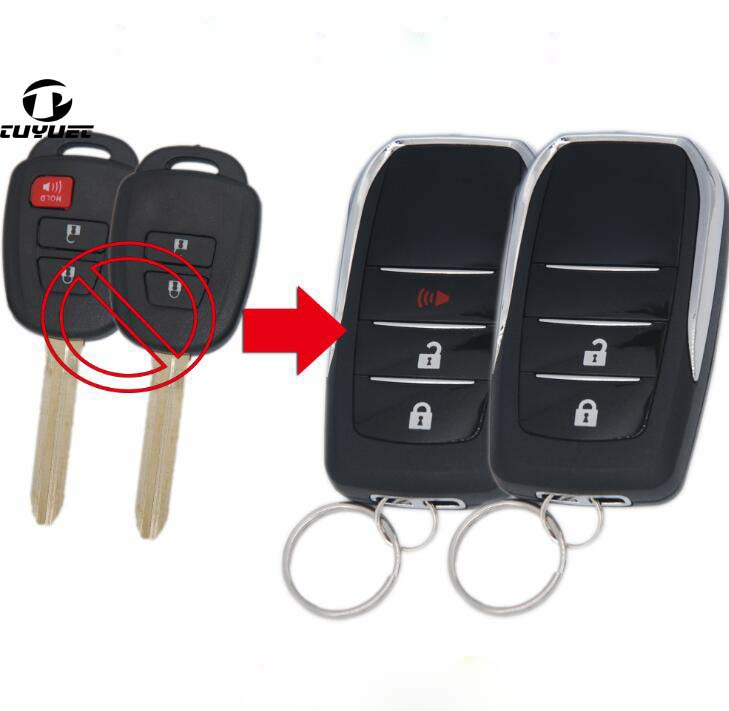 New ! Modified Flip Folding <font><b>Remote</b></font> <font><b>Key</b></font> Shell for <font><b>Toyota</b></font> Tundra Hiace <font><b>Yaris</b></font>,Vios Prado Wish Blank <font><b>Key</b></font> Shell TOY43 Blade image