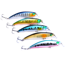 5PCS/Lot Hard Minnow Bait 6.5cm 4g Crankbaits 3D Eyes Fishing Lures With 2 Treble Hooks