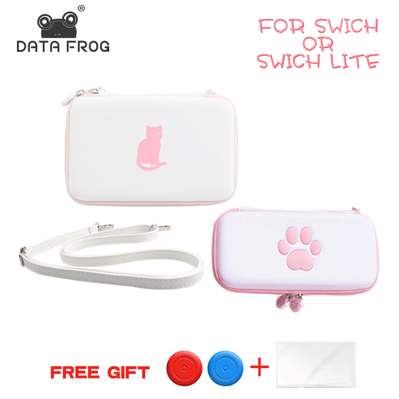 DATA FROG Cute Paw Storage Bag For Nintend Switch/Switch Lite Console Portable Carrying Pouch Case For NS Lite Game Accessories