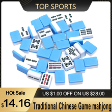 Mahjong-Set Chinese-Game Entertainment-Accessories Traditional Travel Mini Portable 24mm