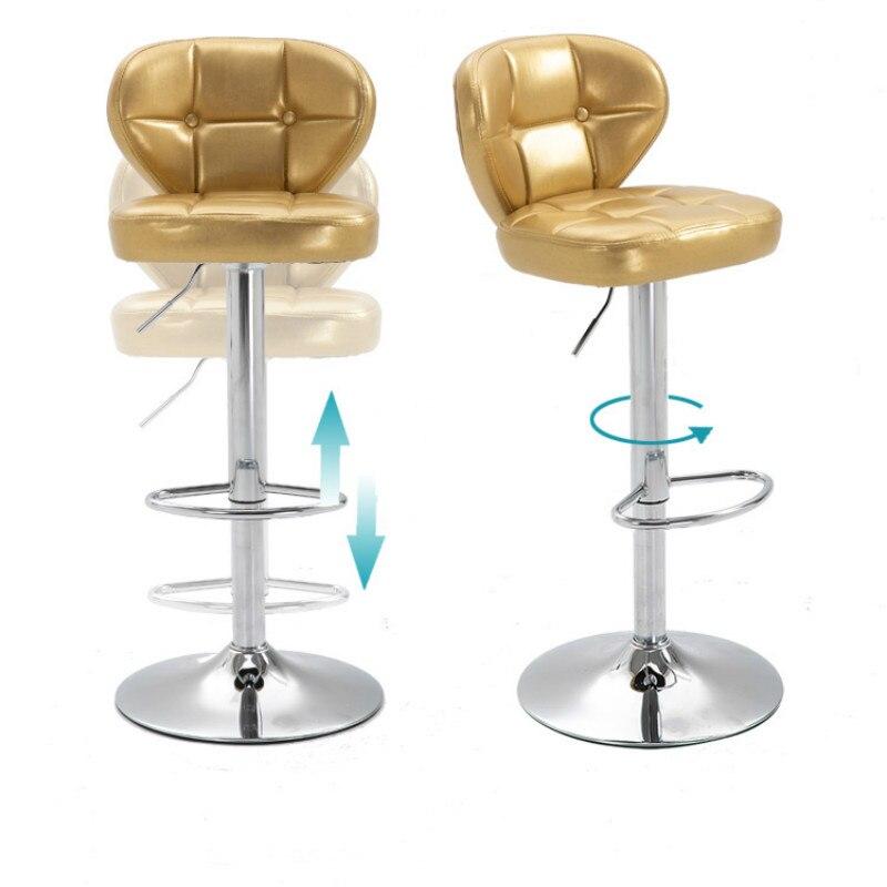 European Style Bar Chair Lift Chair High Stool Bar Table Chair Rotating Creative Bar Stool Fashion Cashier Stool Back