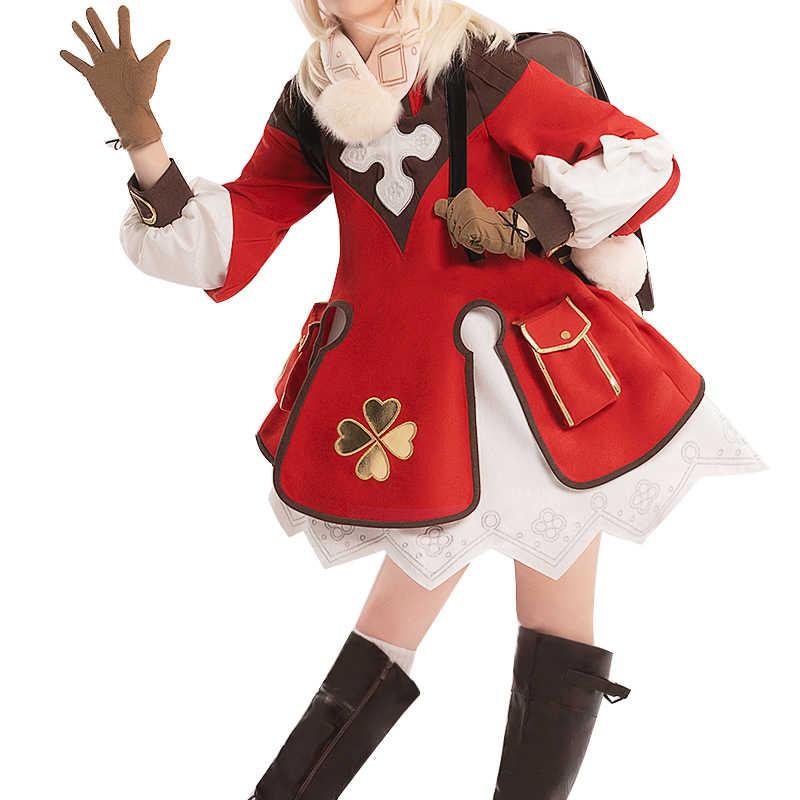 PRE-SALE dokidoki-ssr jogo genshin impacto cosplay halloween klee genshin impacto klee cosplay