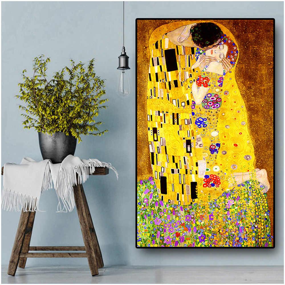 クラシックアーティストグスタフ · クリムトキス抽象 5D ダイヤモンド塗装現代モザイク壁画のポスターダイヤモンド刺繍家の装飾