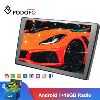Podofo 9 Android Car Multimedia Player 2din Car Radio Audio Stereo Autoradio GPS Bluetooth WIFI Mirrorlink MP5 Player Radio image