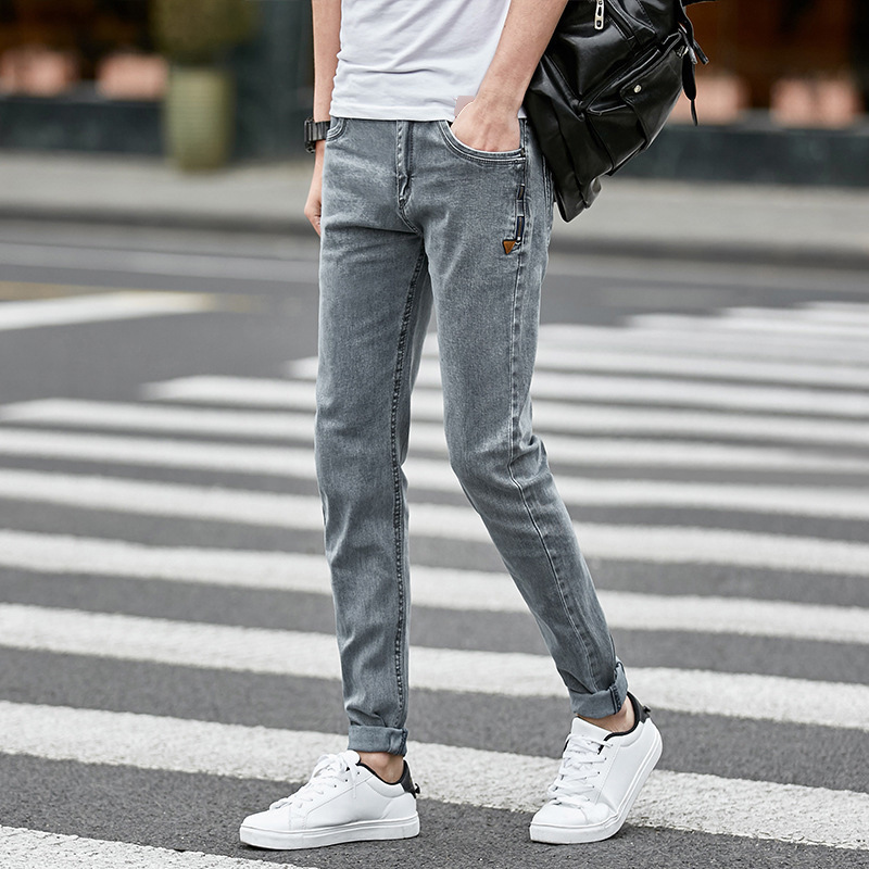 Men Style Design Denim Skinny Slim Jeans Distressed Men New 2020 Spring Autumn Clothing Good Quality Casual Jeans