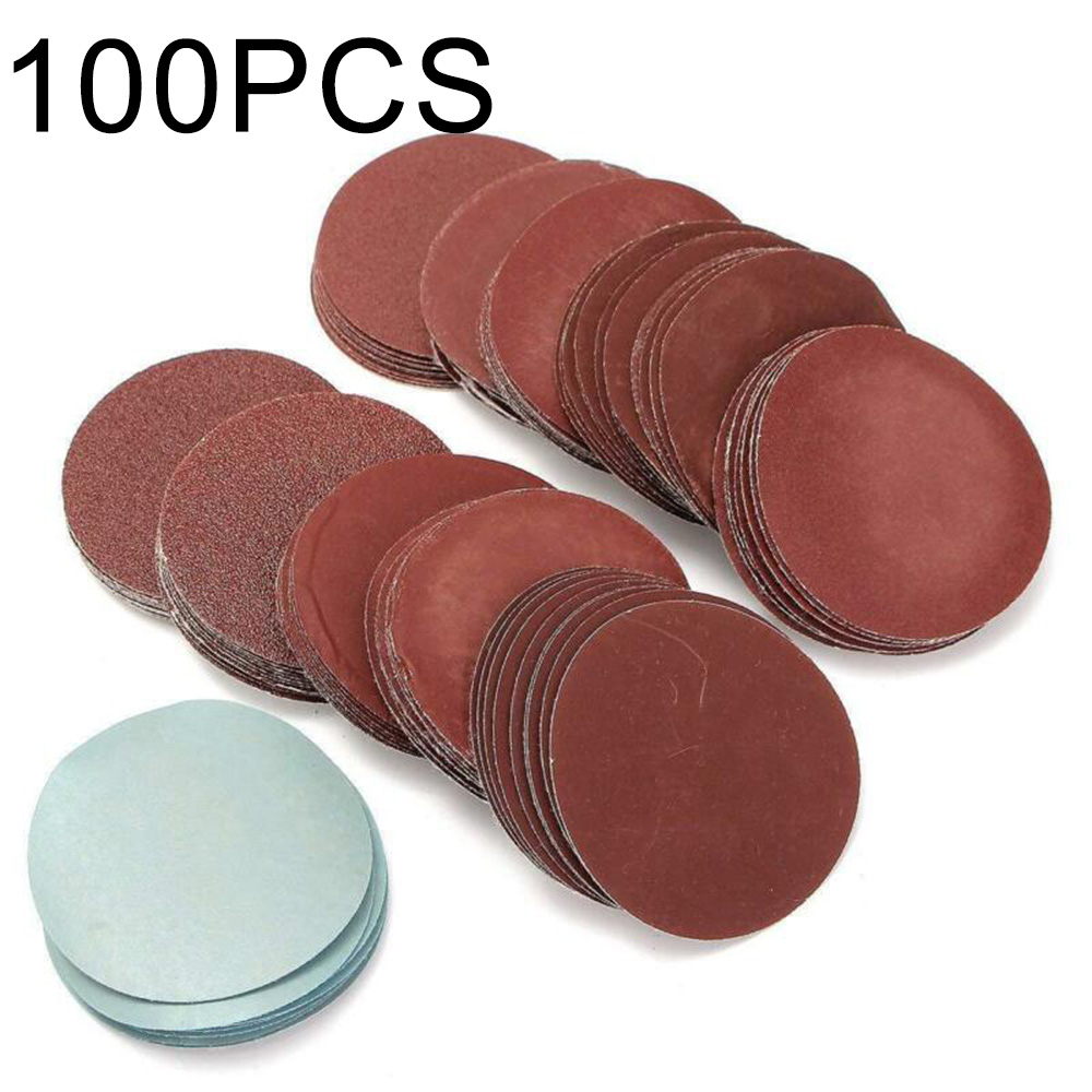 100pcs Sanding Discs Polishing Hook Loop Backed Pad Round Automotive Sandpaper Sand Sheets Grit Polished Disc