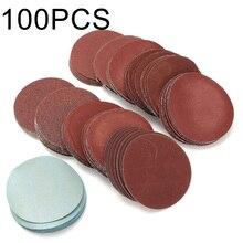 100 stücke Schleifen Discs Polieren Haken Schleife Gesichert Pad Runde Automotive Schleifpapier Sand Blätter Körnung Poliert Disc