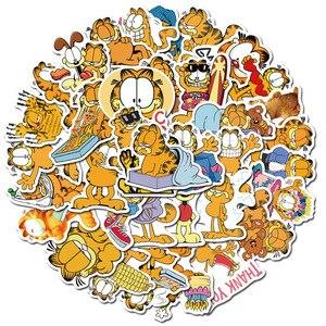 50 шт./компл. Garfield наклейка для скейтборда гидро фаск ноутбука переводные наклейки для чемодана милое животное, мультяшная кошка наклейка s