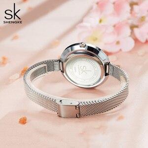 Shengke Luxury Women Watch Diamond Dial Bracelet Wristwatch For Girl Elegant Ladies Quartz Watch Female Dress Watch Brand Watch