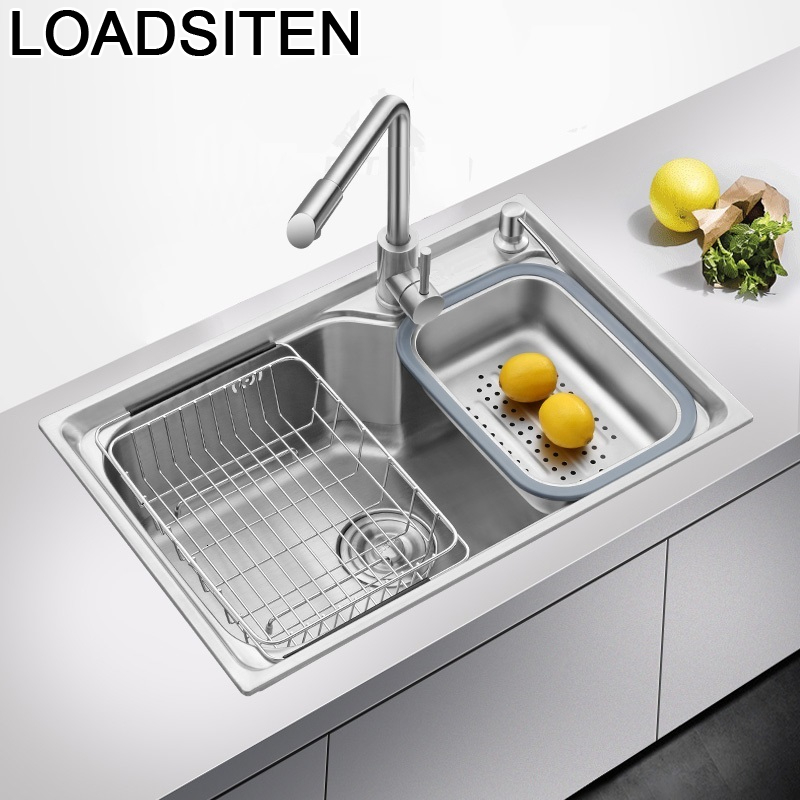 Integral Acero Inoxidable Escurridor Faucet Inox Wasbak Kitchen Fregadero De Cocina Lavabo Cuba Pia Cozinha Dishwash Sink