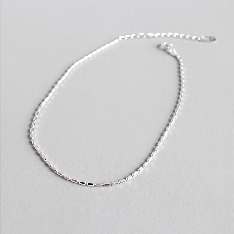 100% 925 sterling silver woman ankle bracelet on the leg chain summer accessories, simple anklets for women foot jewelry