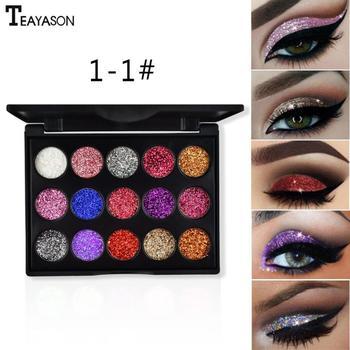 15 Color Diamond Sequins Eyeshadow Glitter Powder High-gloss Eye Shadow Sequins Glitter Loose Shimmer Eye Shadow Makeup TSLM1 1