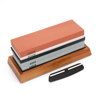 400/1000 3000/8000 1000/6000 Grit Premium Whetstone Cut Sharpening Stone Set Ideal Sharpener For All Blades Non Slip Base