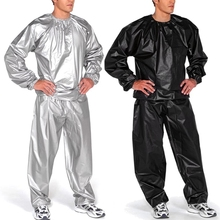 L-4XL PVC Sauna Suit Fitness Weight Loss Sweating High Guality Sauna Suit Sports Suit Men Women Exercise Fitness