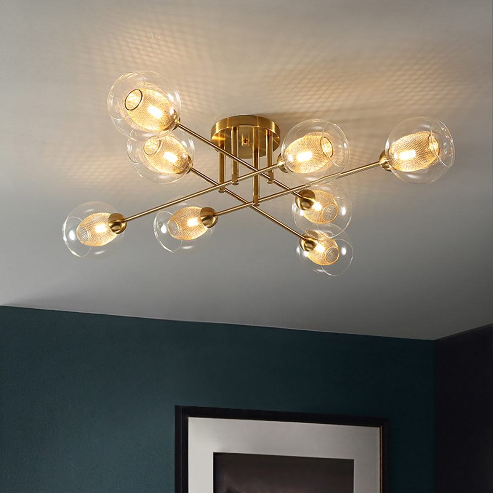 Us 116 0 50 Off Modern Ceiling Lamps For Living Room Bedroom Kitchen Gl Led Lighting Nordic Design Home Light Fixtures In