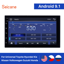 Seicane 2 Din Universele Android 9.1 Auto Gps Multimedia Navi Stereo Speler Voor Nissan Qashqai/X-TRAIL Toyota Corolla Hyundai kia