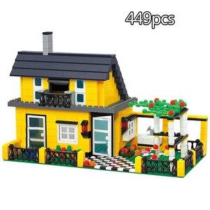 Image 5 - 市アーキテクチャヴィラコテージビルディングブロックセット友人ビーチ小屋モジュラー家村モデルのおもちゃ