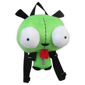Image 2 - Neue Alien Invader Zim 3D Augen Roboter Gir Nette Gefüllte Plüsch Rucksack Grüne Tasche Weihnachten Geschenk 14 zoll