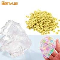 Bunte Schaum Perlen Schleim Lieferungen Kugeln Tiny Schnee Charme Füllstoff Hinaus für Schleim Schlamm Partikel Zubehör Anti-Stress-Spielzeug