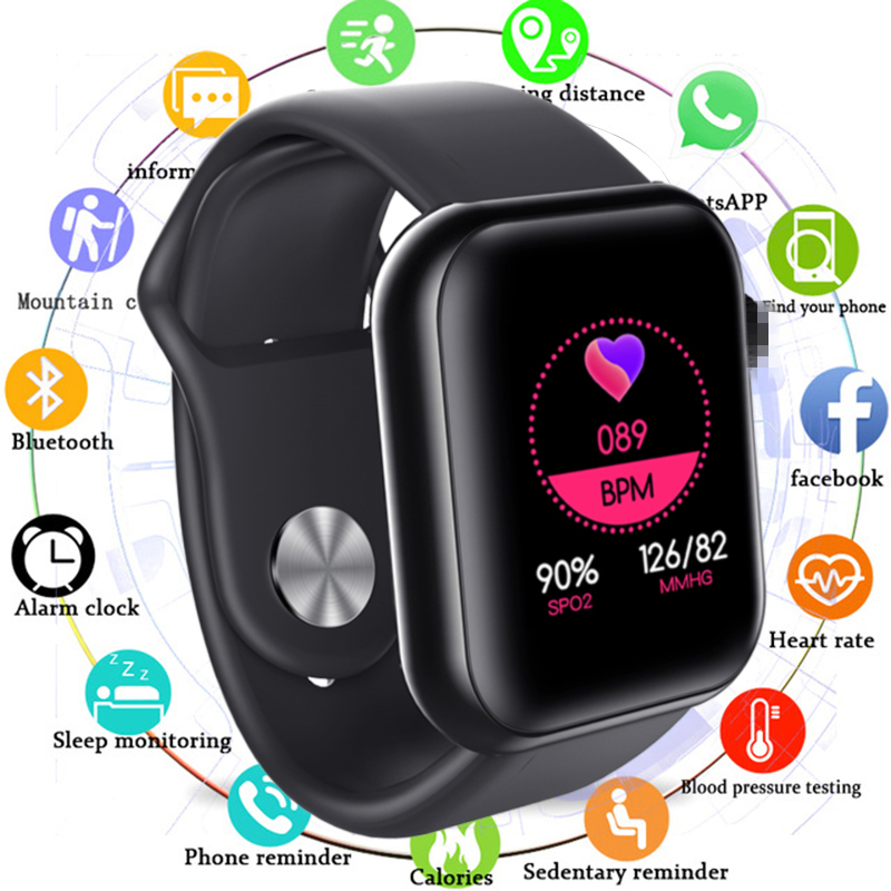 2020 Men Women Smart Watch Waterproof Blood Pressure Smartwatch Heart Rate <font><b>Monitor</b></font> Sleep Tracker Clock Watch For Android IOS image