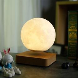 Lewitacja magnetyczna LED nocna lampka w kształcie księżyca 3D Print Crntic walentynki kreatywny prezent urodzinowy RomaTouch przełącznik Home Decor w Oświetlenie nocne LED od Lampy i oświetlenie na