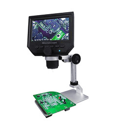 G600 cyfrowy 1-600X 3.6MP 4.3 calowy wyświetlacz lcd hd mikroskop ciągły lupa z stojak ze stopu aluminium Upgrade Version