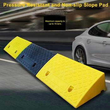 5/9 Height Slope Pad Portable Car Motorcycle Plastic Curb Ramps Heavy Duty PVC Plastic Kit Non-slip Slope Pad For Driveway Car image
