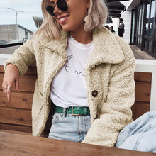 New Arrival For 2019 Fashion Autumn And Winter Women Fleece Cardigan Warm Jacket Top Lapel Long Sleeve Buttons  hh88