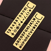 Straight Ruler Template Drawing-Tool Letter-Pattern Metal Stationery Bookmark Papelaria