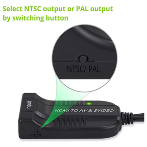 Image 4 - HDMI to AV S Video Adapter HDMI Input S Video AV CVBS Output Video Converter