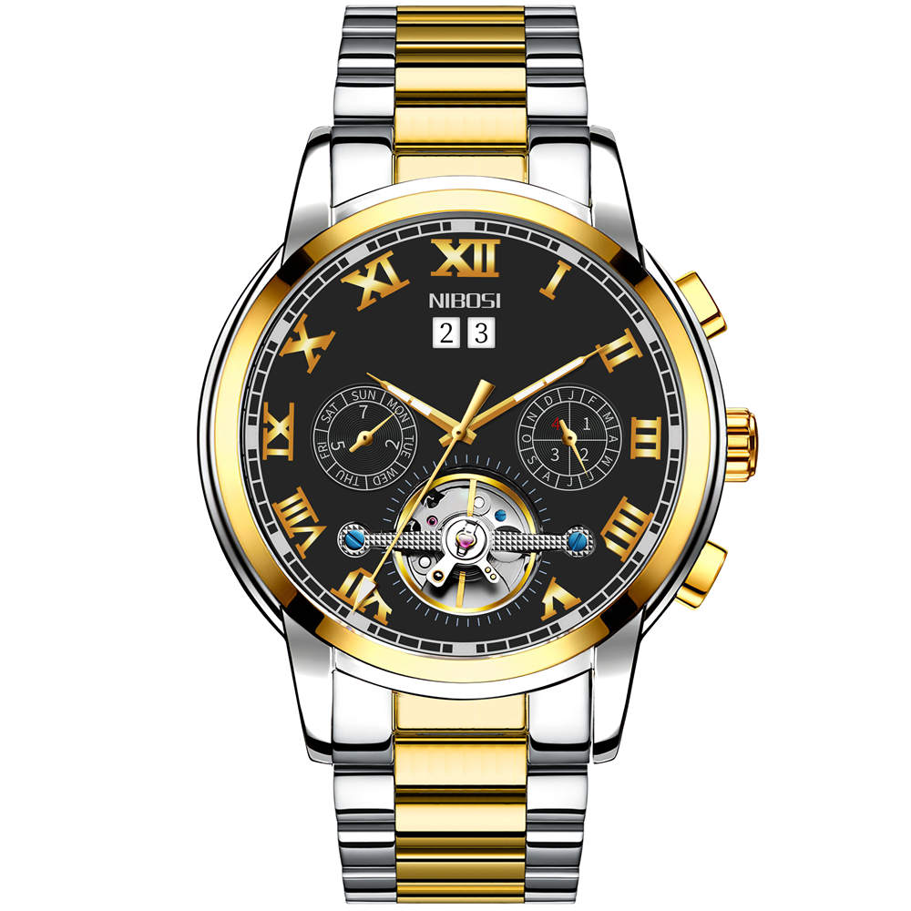 NIBOSI Mechanic Watch Top Brand Luxury Mens Watches Automatic Luxury Watch Men Sport Wristwatch mens reloj hombre Tourbillon 5