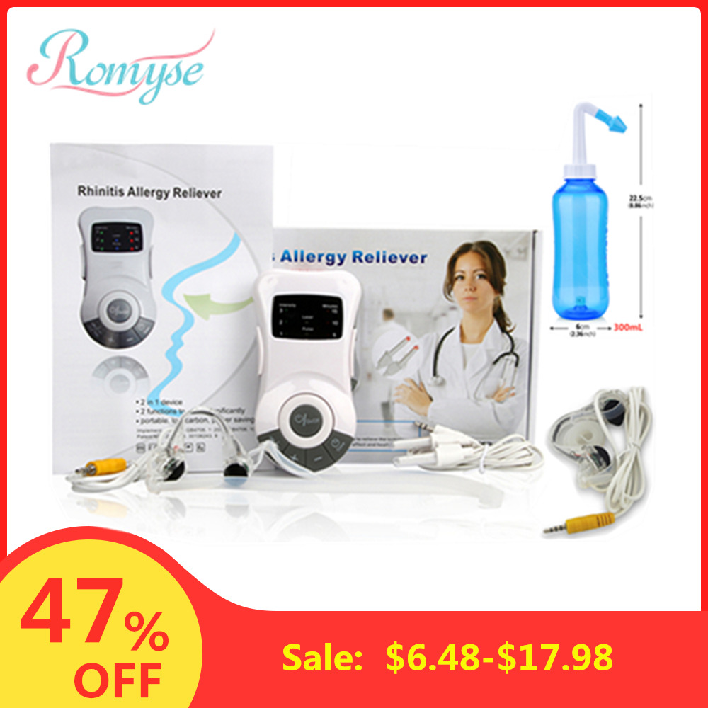 Laser Rhinitis Allergy Reliever Electric Therapy Massage Clip Nose Massager Low Frequency Pulse Sinusitis Cure Hay Fever Device