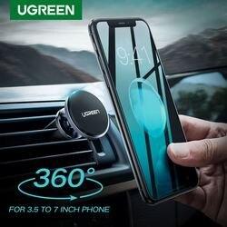 Soporte magnético de teléfono para coche Ugreen, soporte para teléfono móvil, soporte para Smartphone, soporte magnético para iPhone X, soporte para móvil