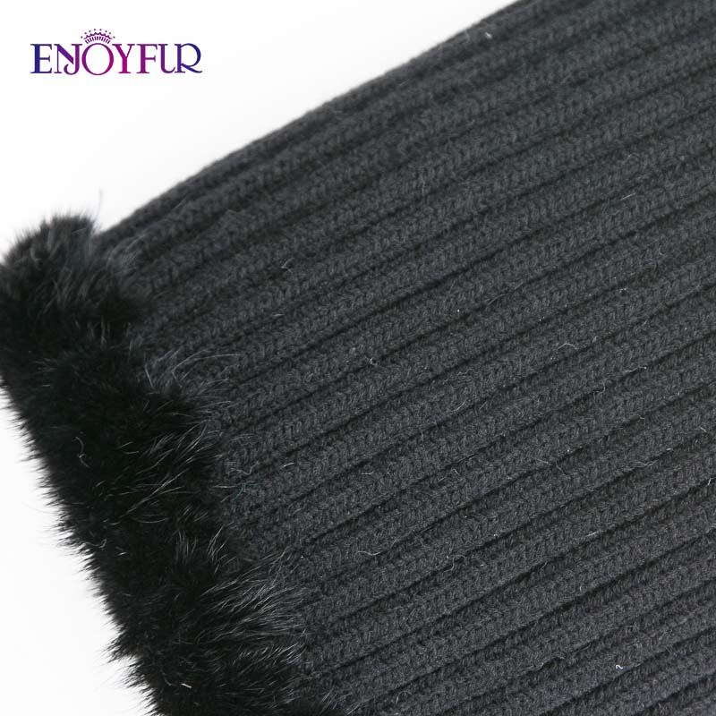 Image 5 - ENJOYFUR winter women's hat real natural mink fur hats new fashion fur caps female thick warm russian beanies caps-in Women's Skullies & Beanies from Apparel Accessories
