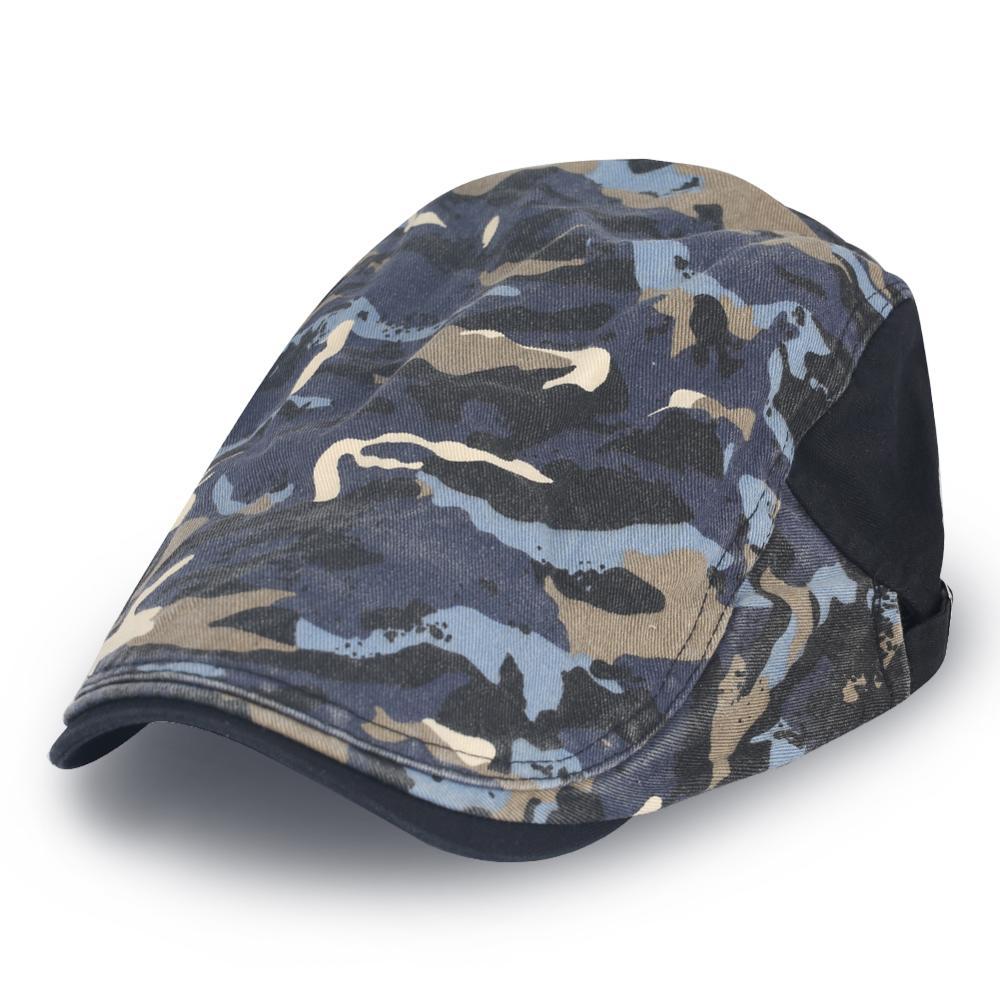 Men Women Cotton Adjustable Patchwork Painter Beret Caps Retro Outdoor Ivy Forwa