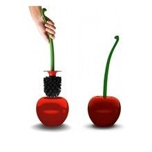 1PC Creative  Cute Cherry Shaped Toilet Brush Holder Set Bathroom Cleaning Kit Cleaner Household Brushes