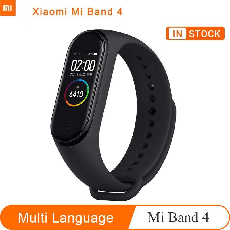 Original Xiaomi Mi Band 4 Music Bluetooth 5.0 Sport Traker Smart Miband 4 Bracelet Heart Rate 135mAh with Color Screen
