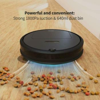Robot Vacuum Cleaner Super-Thin Quiet Max Power Suction Good for Pet Hair, Carpets, Hard Floors, Self-Charging