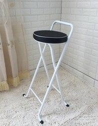 M8 nowy europejski wysoki stołek Bar nowoczesny minimalistyczny składany połowów pogrubienie krzesło