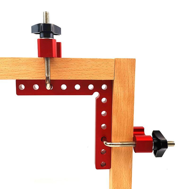 Regla en forma de L de 90 °, ángulo recto, de aluminio, cuadrada, 1 Uds., accesorio auxiliar, pinza de fijación con Panel de posicionamiento, herramienta para carpintería Piezas para herramientas    - AliExpress
