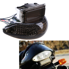 Przyciemniana motocyklowa zintegrowana lampa kierunkowskazów tylna LED lampka ostrzegawcza Taillight dla Suzuki Hayabusa GSX1300R 1999 2007