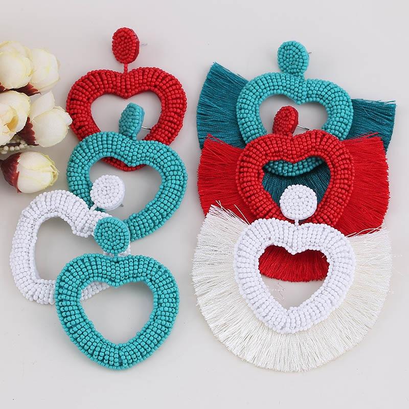 Tassel Boho Earrings For Women Fashion Jewelry Bohemian Star Gifts Face African Dangle Drop Boho Earings Long Punk Vintage New (5)