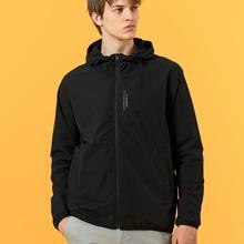 Thin Jacket Windbreaker Spring Coats Outerwear Men Fashion SIMWOOD SJ130435 Hooded Letter